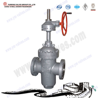 Flanged or butt-weld gate valve