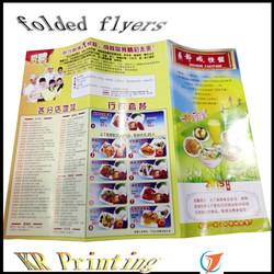 folded leaflet flyer offset printng wholesalers china