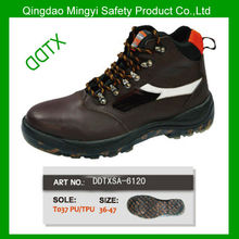 DDTX-SA6120 PU/TPU outsole cow leather oil and slip resistance men's safety shoes