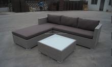 Garden wicker sofa lounge, outdoor sofa furniture, wicker rattan sofa set