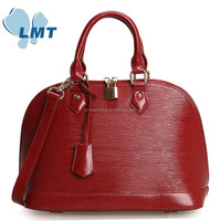 New arrival ladies bags with lock leather handbag factory