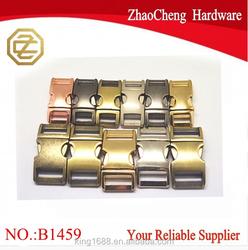 25mm High quality Metal buckle side release buckle metal adjustable slide buckles