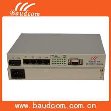 100M ethernet fiber optical media transceiver with VLAN management