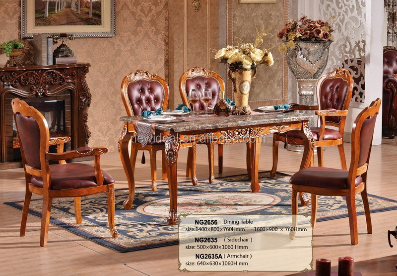 Dining Room Furniture Marble Dining Table And Leather
