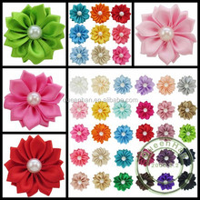 IN STOCK Satin Ribbon DIY Pearl Fabric Flowers Apparel/Wedding Accessories.