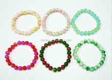 Gradient Color Stretch Bracelet Wholesale Glass Beaded Bracelets Choose Size