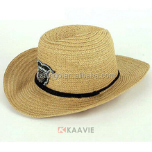 Fashion wide brimmed straw fedora hats for men