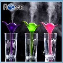 200ML Clover Plastic LED Cool Mist Ultrasonic Mini Air Humidifier
