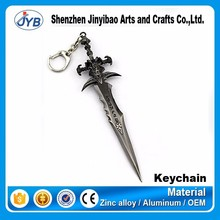 hot product in 2015 metal sword dota 2 game theme keyring