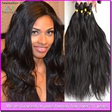 Natural black color bodywave style wholesale virgin brazilian hair wefts