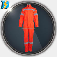 breathable overall with adjustable cuff elastic waist reflective tapes