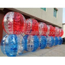 zorb bumper ball, glowing bubble football, 1.0mm PVC human sized soccer bubble ball for sale