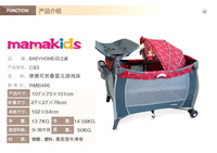easy folding outdoor child bed baby wooden electric swing bed