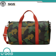 Alibaba provider waterproof camo travel bag leather