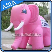 Excellent&Good Product Gaint Inflatable Moving Animals Pink Elephant for Traveling