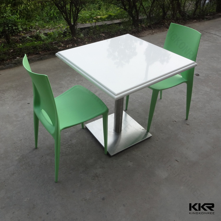 Kingkonree quartz stone top dining tables buy quartz for Quartz top dining table