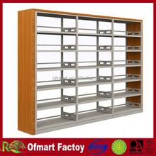 steel frame and wood library bookshelf