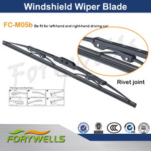 High quality chromed wiper blade the salable universal metal frame windshield wiper