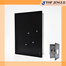 Modern Look Square Metal Storage Black Wall Key Box