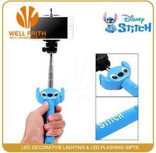 Colorful new shape monopod bluetooth selfie stick with bluetooth remote shutter&smartphone selfie stick
