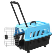 Trolley pet carrier for dog cats rabbit hamsters small animals