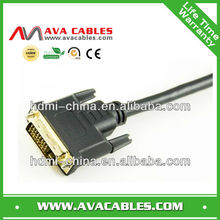 Universal Oxygen-free copper Triple Shielding DVI 24+1 cable with 24K gold-plated