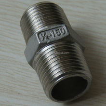 AISI 304 304L,316 316L,431,ASTM A351(CF8M,CF8),S17400casting pipe fittings hexagon nipple