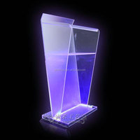 transparent Acrylic lecture podium& podium/lecture&office furniture podium with LED light