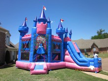 Hot Princess Inflatable Bouncy Castle / Inflatable Jumping Castle Combo for Girls
