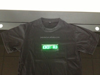 2015 New Digital guangzhou led lights for tshirts with scrolling english message badge
