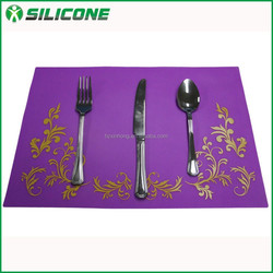 New products custom silicone placemat dinner placemat