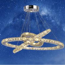 Chandeliers LED Ring Light Lamps new singular LED Chandelier for Pendants Diamond Crystal Light Fixture for Dinning Room