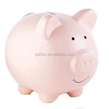 "custom make Kids Toy Pig 7"" Figure Pink oem Coin Bank Piggy Money Saving Box"