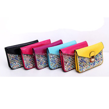 Factory Wholesale Popular Insetted multicoloured Jewel Mobile Phone Bag (BSY003)