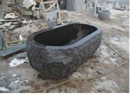 La pierre naturelle de la baignoire granite id de produit for Prix baignoire en pierre