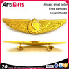 Hand made cheap gold alloy pilot wings pin