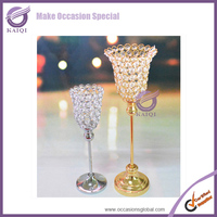 k7053 Crystal beads tea light candle holder, Small candle holder for wedding centerpiece supplier