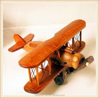 World War Retro Wooden Model Airplane Two Designs Wooden Airplane Toy for home decoration