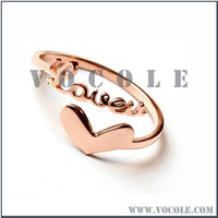 Letter Infinite Love Written Heart Stainless Steel Ring