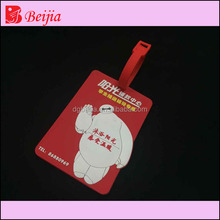 High quality travel 3d soft pvc rubber silicone luggage tag/custom luggage tag/wholesale