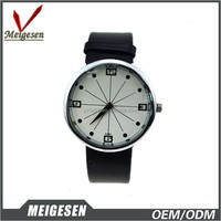 White face design wholesale lower price teenage black PU band watch