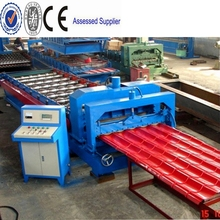 2015 hot sale!!! high quality best price glazed steel tile roll forming machine/ roofing panel roll forming machine