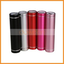 Factory Direct Sale 1800mah/2600mah Mobile Cylindrical Alloy Power Bank for Iphone 6 with Many Colors For your Choice