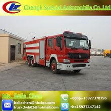 336hp HOWO fire truck, 15000L-16000L fire engine for sale