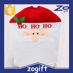 ZOGIFT Hot !!! Fancy Christmas Santa Claus Chair Cover with Mistletoe as holiday gift