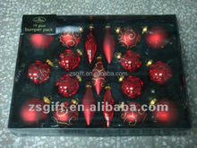 fashionable wholesale clear glass christmas ball ornaments