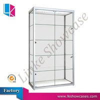 modern wall glass display cabinet showcase