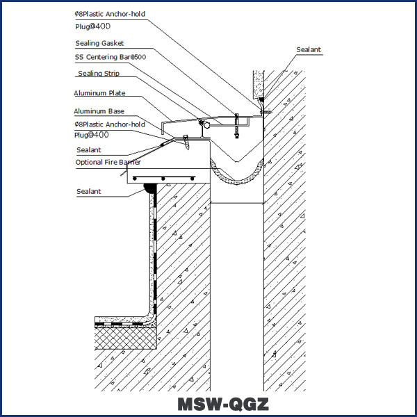 Meishuo Building Roof Expansion Joint Cover Msw Qgz
