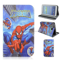 Jumping Spider-man PU Leather Tablet Case For Samsung Galaxy Tab 3 7inch P3200/T210/T211 That Can Folio Stand, Factory Sale