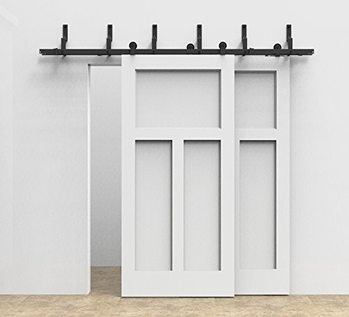 Bypass Sliding Barn Wood Door Hardware Interior Sliding Door Black